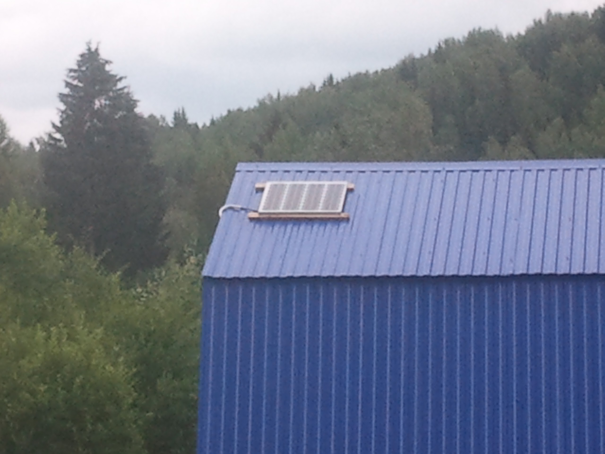 Солнечная батарея на бане
