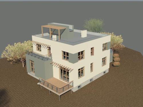 Проект дома от архитектора. Общий вид сверху.